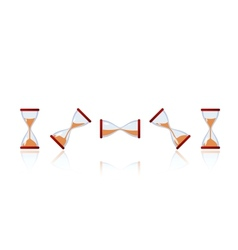 set of cartoon hourglasses vector image vector image