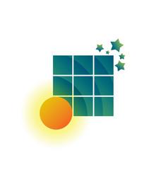 sun sky star logo abstract space concept design vector image vector image