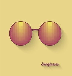 Sunglasses with abstract geometric pattern vector