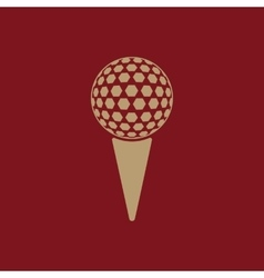 The golf ball icon game symbol flat vector