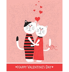 Two cats in love vector