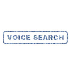 Voice search textile stamp vector
