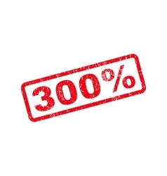 300 percent text rubber stamp vector