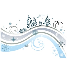 Frozen flourishes with snowflakes vector