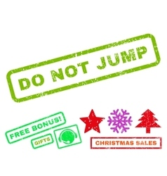 Do not jump rubber stamp vector