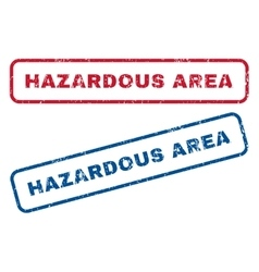 Hazardous area rubber stamps vector