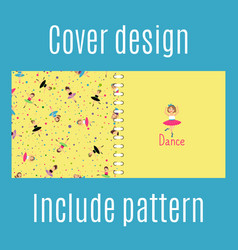Cover design with dancing girls pattern vector