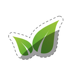 environment leaves nature symbol vector image