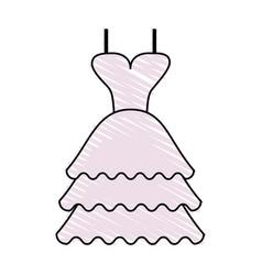 Color crayon stripe image wedding dress fashion vector