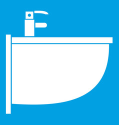Bidet icon white vector