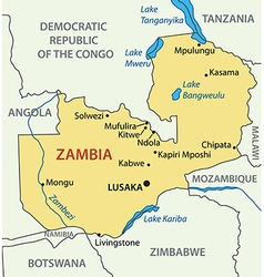 Republic of zambia - map vector