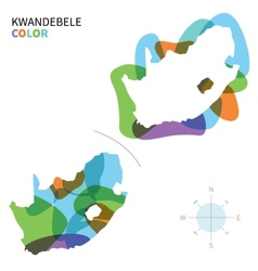 Abstract color map of kwandebele vector