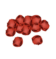 Pile of umeboshi or japanese salt plums vector