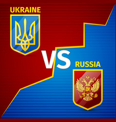 Ukraine vs russia vector