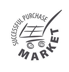 Logo shopping cart in a store vector