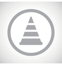 Grey traffic cone sign icon vector