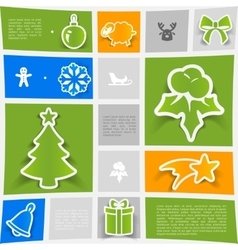 Christmas sticker infographic vector