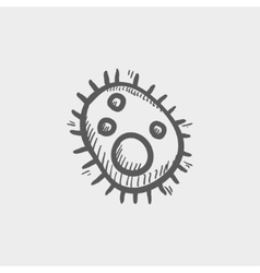 Bacteria sketch icon vector