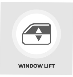 Window lift icon flat vector
