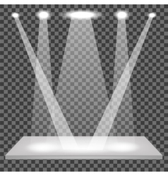 Empty shelf isolated spotlights set vector
