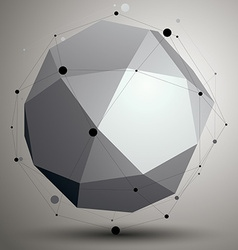 Abstract asymmetric monochrome object complicated vector