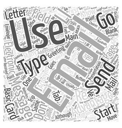 Advantages of email word cloud concept vector