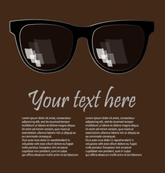 advertising glases background vector image