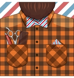 Barber bearded man vector