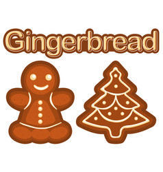 Bright colorful poster with ginger bread cookie vector