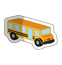 Bus school isometric icon vector