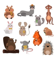 Cartoon rodents animals set vector image vector image