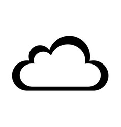 Cloud climate isolated icon vector