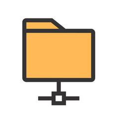 computing folder icon vector image vector image