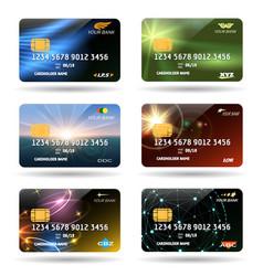 credit or debit cards vector image