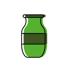 decorative vase icon vector image
