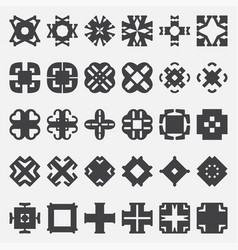 Design elements set tribal cross vector