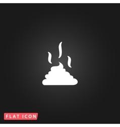 Feces icon clean up after pets symbol vector