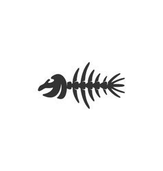 Fish bone Icon logo on white background vector image