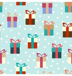 Flat colorful gifts vector image
