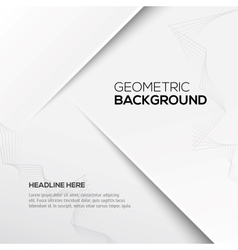 Geometric gray 3d background vector