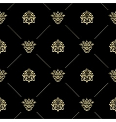 Golden royal baroque pattern vector image vector image