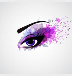 Grunge eye vector image vector image