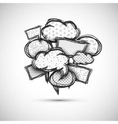 hand drawn bubble speech vector image