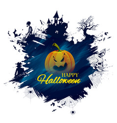 happy halloween holiday night celebration vector image