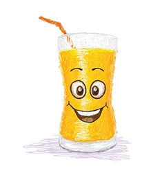 happy orange juice vector image