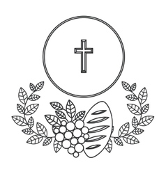 Isolated religion cross design vector