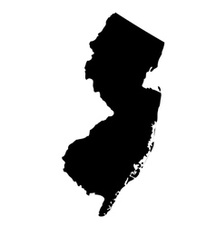 Map of the us state new jersey vector
