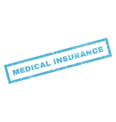 Medical insurance rubber stamp vector
