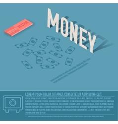 Money business background concept design vector