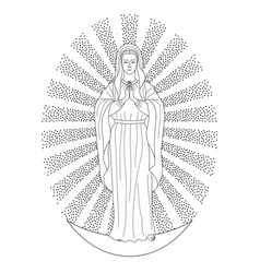 Praying virgin mary vector